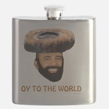 Oy To The World flat Flask