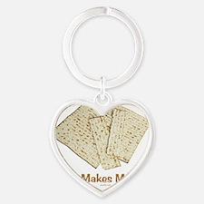 Haste Makes Matzos. Heart Keychain