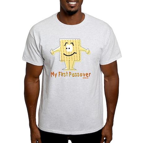 2-My First Passover Flat Light T-Shirt