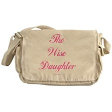 Wise Daughter pink flat Messenger Bag