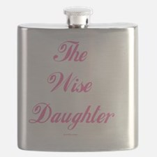 Wise Daughter pink flat Flask