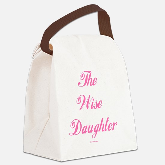 Wise Daughter pink flat Canvas Lunch Bag