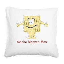 Macho Matzoh Man Square Canvas Pillow