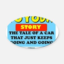 TOYODA FLAT Oval Car Magnet