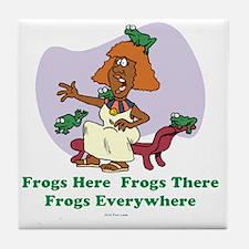 â??Frogs Everywhere 2â?� flat Tile Coaster