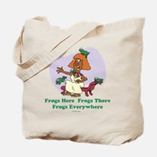 â??Frogs Everywhere 2â?� flat Tote Bag