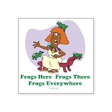 "â??Frogs Everywhere 2â?� fl Square Sticker 3"" x 3"""
