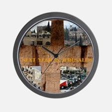 Nest year In Jerusalem Wall Clock