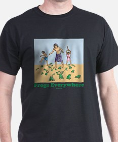 Frogs Everywhere flat T-Shirt