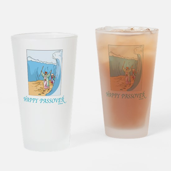 HAPPY PASSOVER CARD 1 Drinking Glass