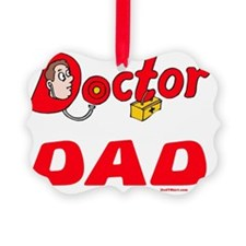 Doctor Dad Red Flat Ornament