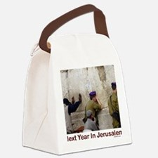 Next Year In Jerusalem Canvas Lunch Bag