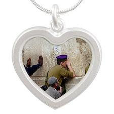 Next Year In Jerusalem Silver Heart Necklace