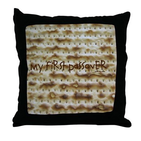 My First Passover Marzoh Throw Pillow
