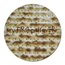 My First Passover Marzoh Round Car Magnet