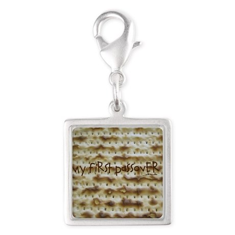 My First Passover Marzoh Silver Square Charm