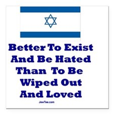 "Better to Exist Flat Square Car Magnet 3"" x 3"""