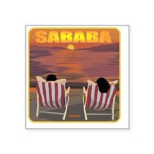 """2-Sababa young flat Square Sticker 3"""" x 3"""""""