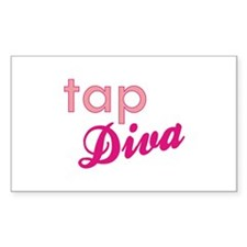 Tap Diva Rectangle Decal