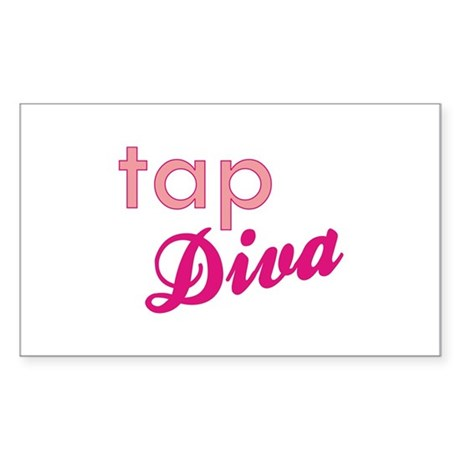 Tap Diva Rectangle Sticker