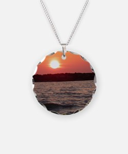 Sunset New Year Card Necklace