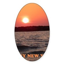 Sunset New Year Card Decal