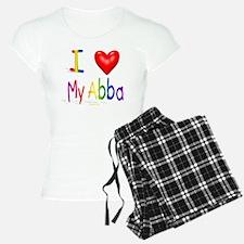 I Love My Abba flat Pajamas