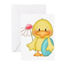 Duck with egg and flower Greeting Cards (Pk of 20)