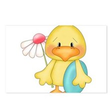 Duck with egg and flower Postcards (Package of 8)