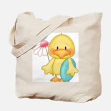 Duck with egg and flower Tote Bag