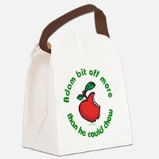 Adam Apple JewTee flat2 Canvas Lunch Bag
