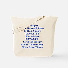 2-Ground Zero flat Tote Bag