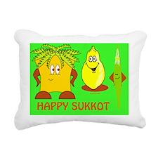 Happy Succos Final Rectangular Canvas Pillow