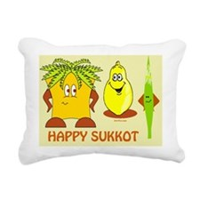 Happy Succos 3 Rectangular Canvas Pillow