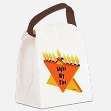 Liught My Fire JewTee flat Canvas Lunch Bag