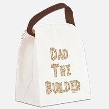 Dad The Builder flat Canvas Lunch Bag
