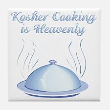 KosherCooking-WHITE flat Tile Coaster