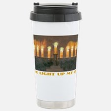 Lite Up Light 14x6 Stainless Steel Travel Mug