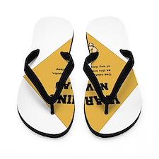 Warning New Dad 2 flat Flip Flops