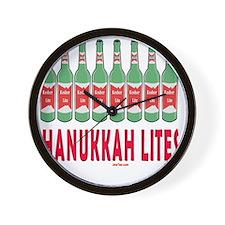 Hanukkah Lites flat Wall Clock