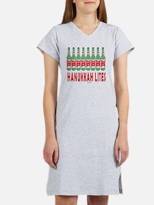 Hanukkah Lites flat Women's Nightshirt