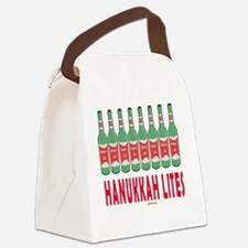Hanukkah Lites flat Canvas Lunch Bag