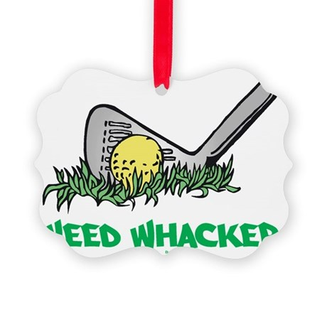Weed Whacker flat Picture Ornament