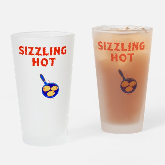 Sizzling Hot 2 flat Drinking Glass