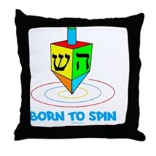 Born to Spin flat Throw Pillow