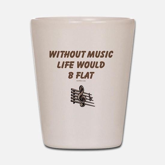 Be Flat 3 flat Shot Glass