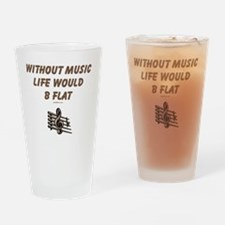 Be Flat 3 flat Drinking Glass