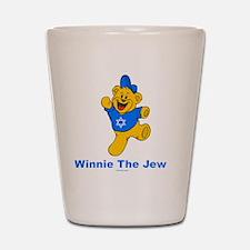 Winnie The Jew Blue flat Shot Glass