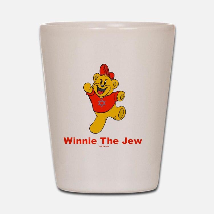 Winnie tHe Jew flat Shot Glass