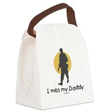 Miss My Daddy flat Canvas Lunch Bag